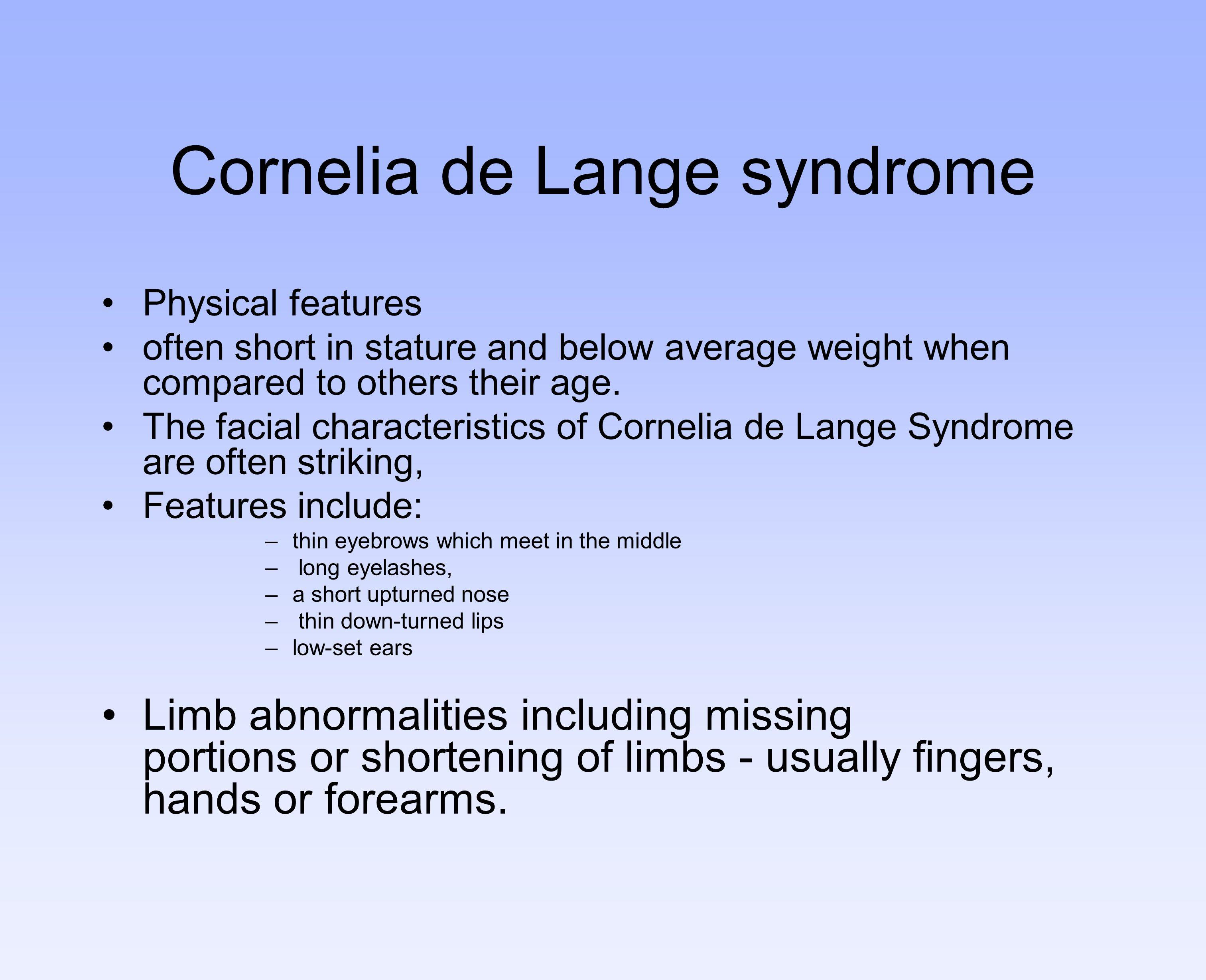 Cornelia de Lange syndrome