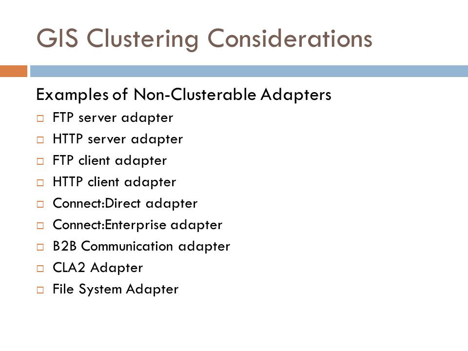 GIS Clustering Considerations