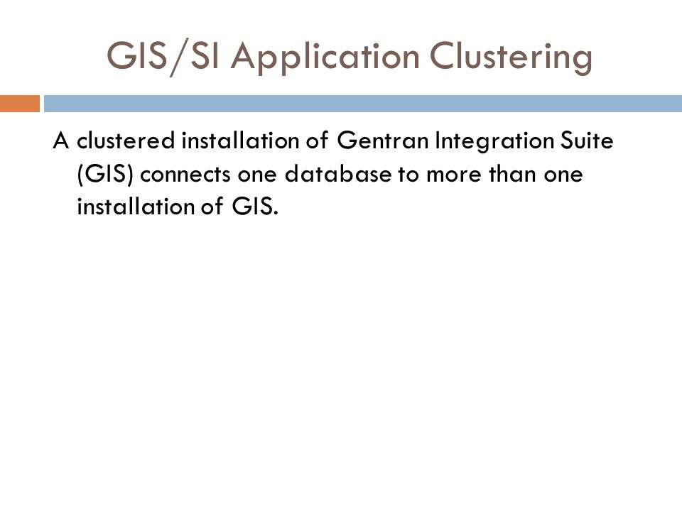 GIS/SI Application Clustering