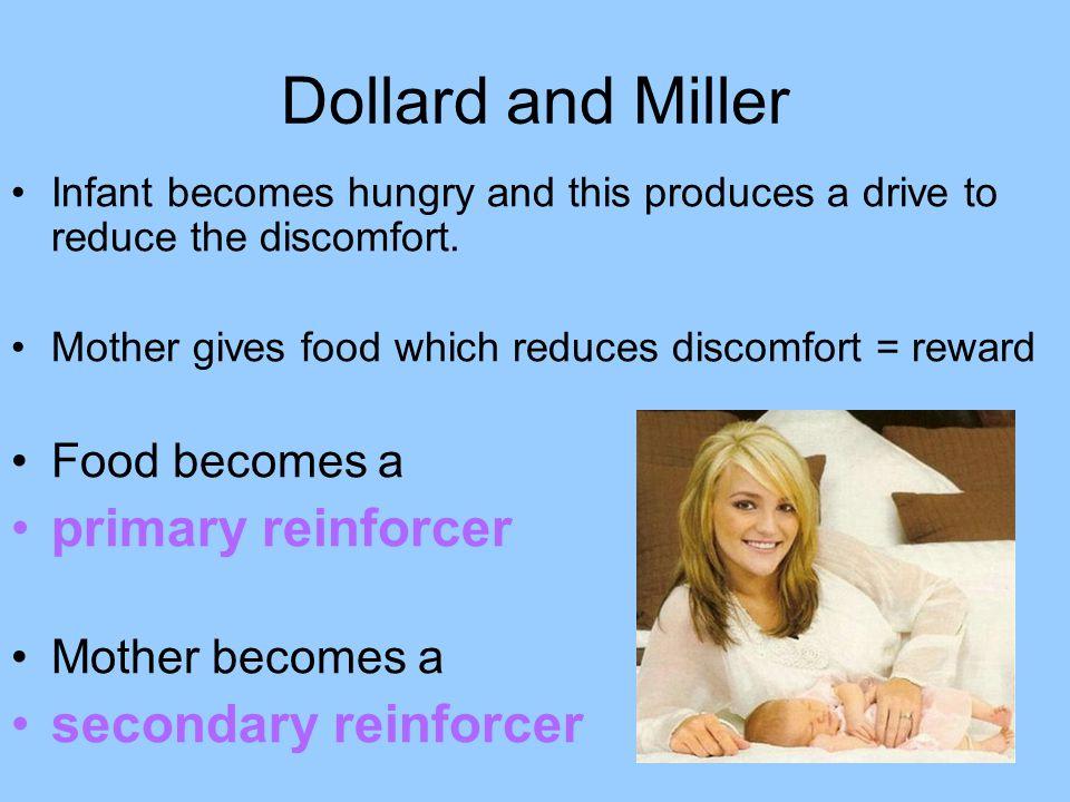 Dollard and Miller primary reinforcer secondary reinforcer