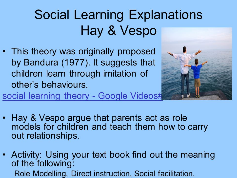 Social Learning Explanations Hay & Vespo