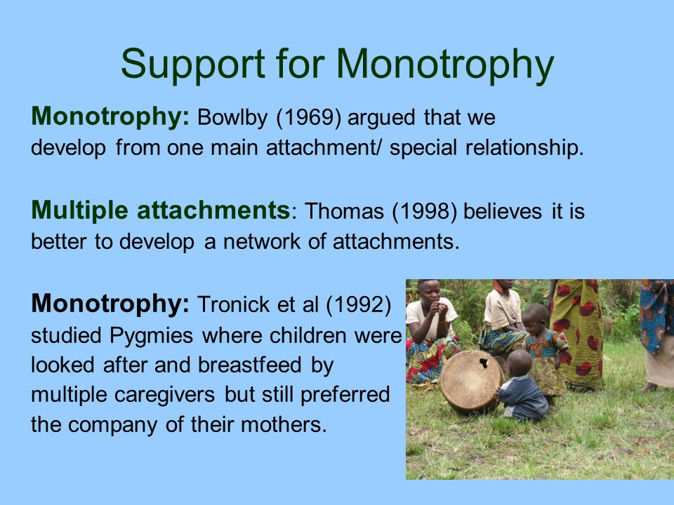 Support for Monotrophy