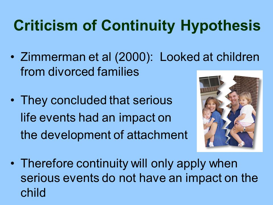 Criticism of Continuity Hypothesis