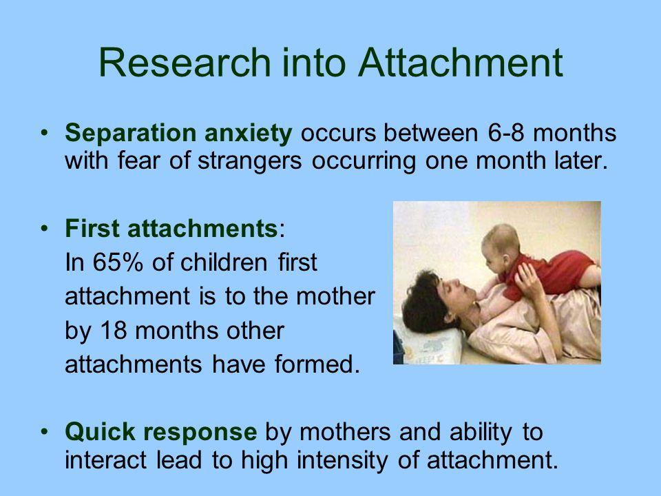 Research into Attachment