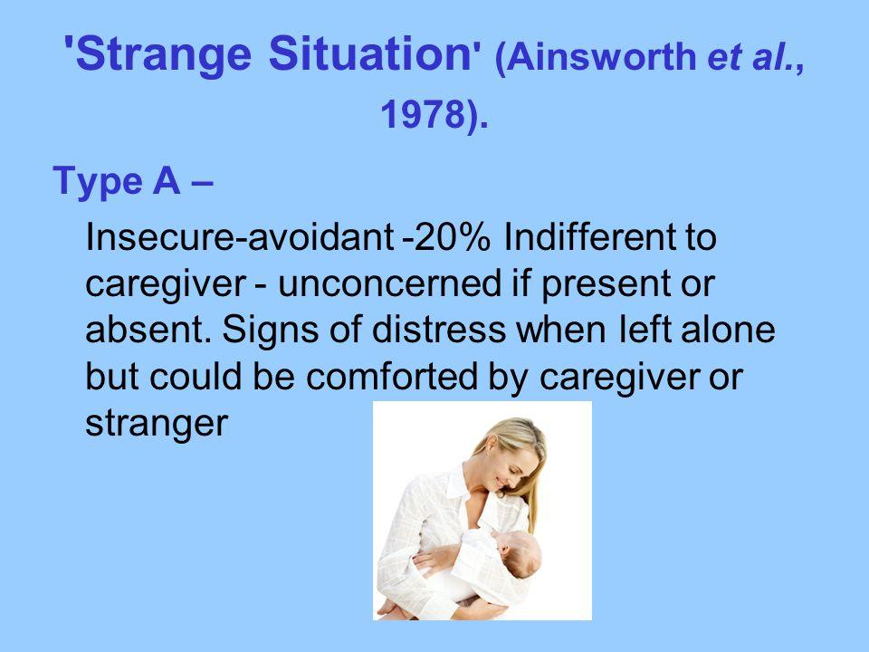 Strange Situation (Ainsworth et al., 1978).