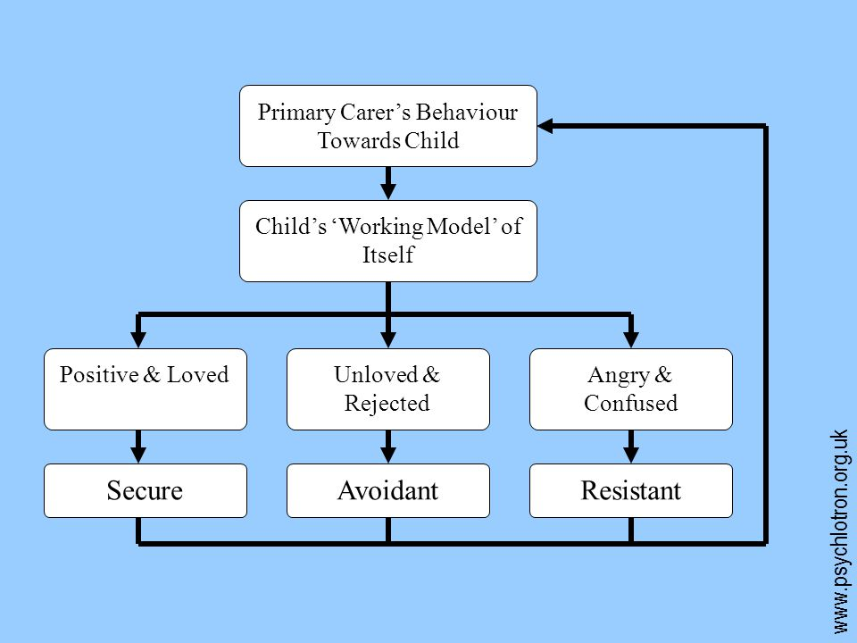 Secure Avoidant Resistant Primary Carer's Behaviour Towards Child