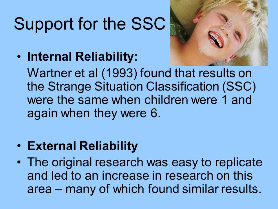 Support for the SSC Internal Reliability: