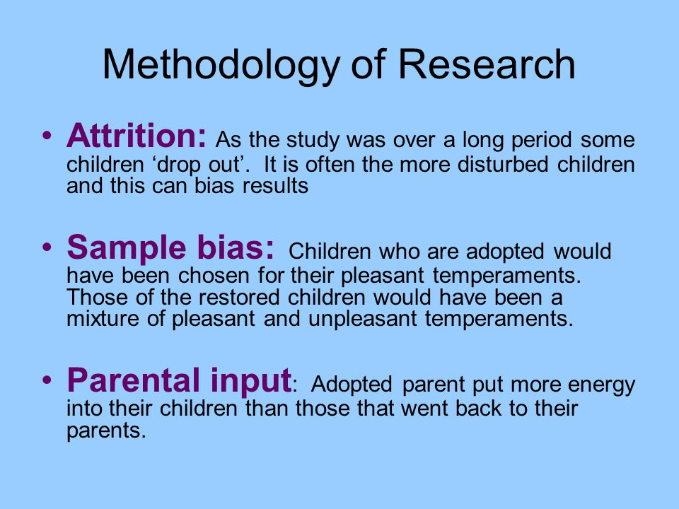 Methodology of Research