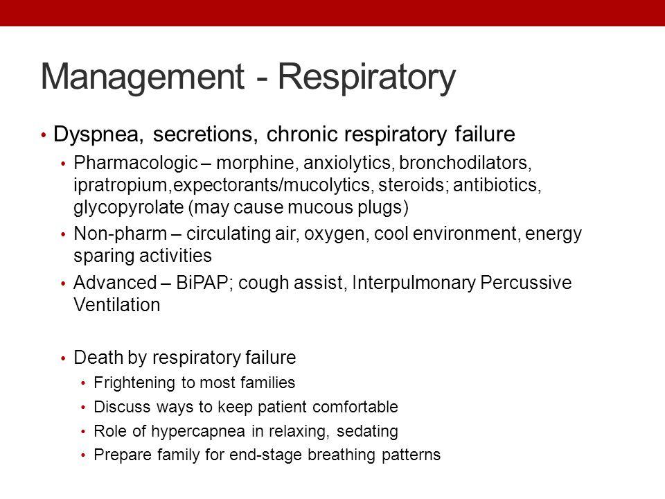 Management - Respiratory