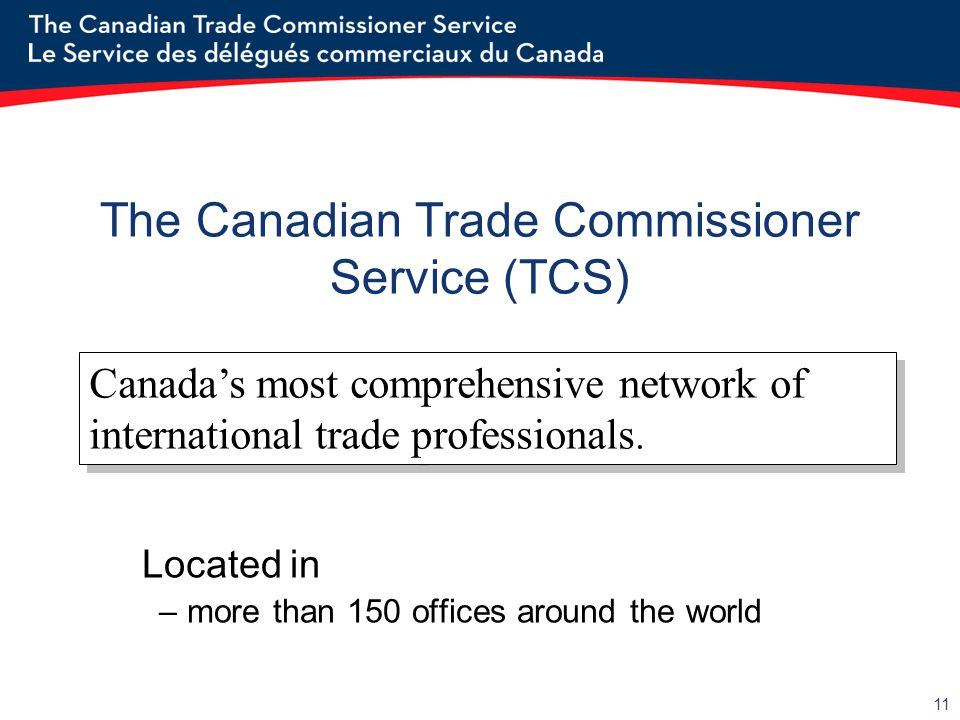 The Canadian Trade Commissioner Service (TCS)