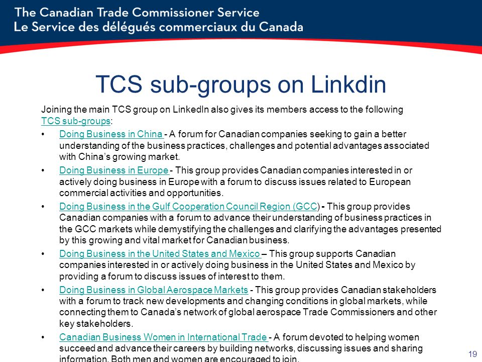TCS sub-groups on Linkdin