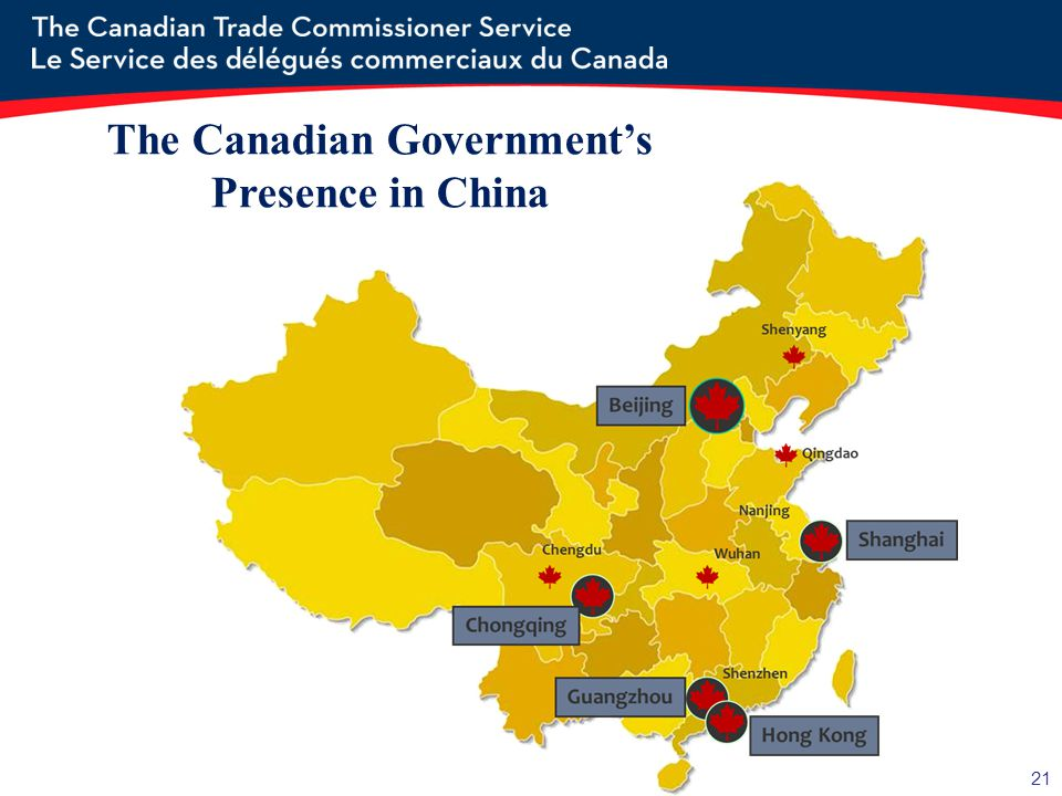 The Canadian Government's Presence in China