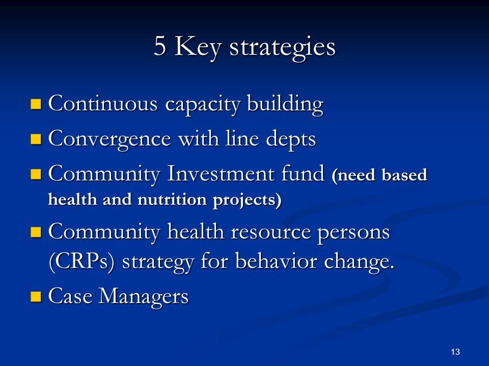 5 Key strategies Continuous capacity building