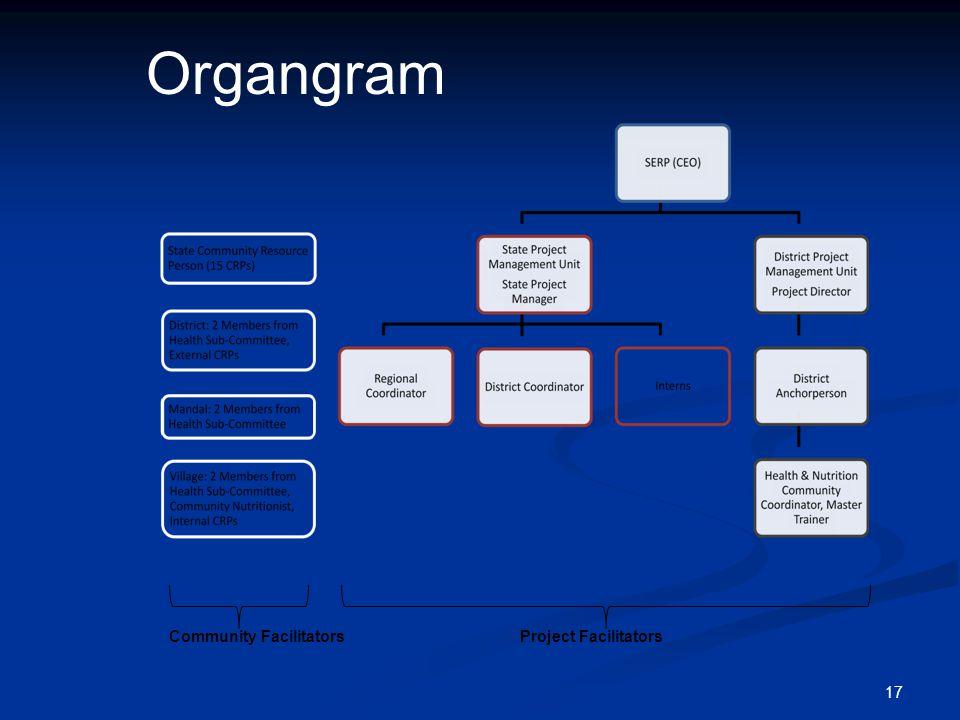 Organgram Community Facilitators Project Facilitators