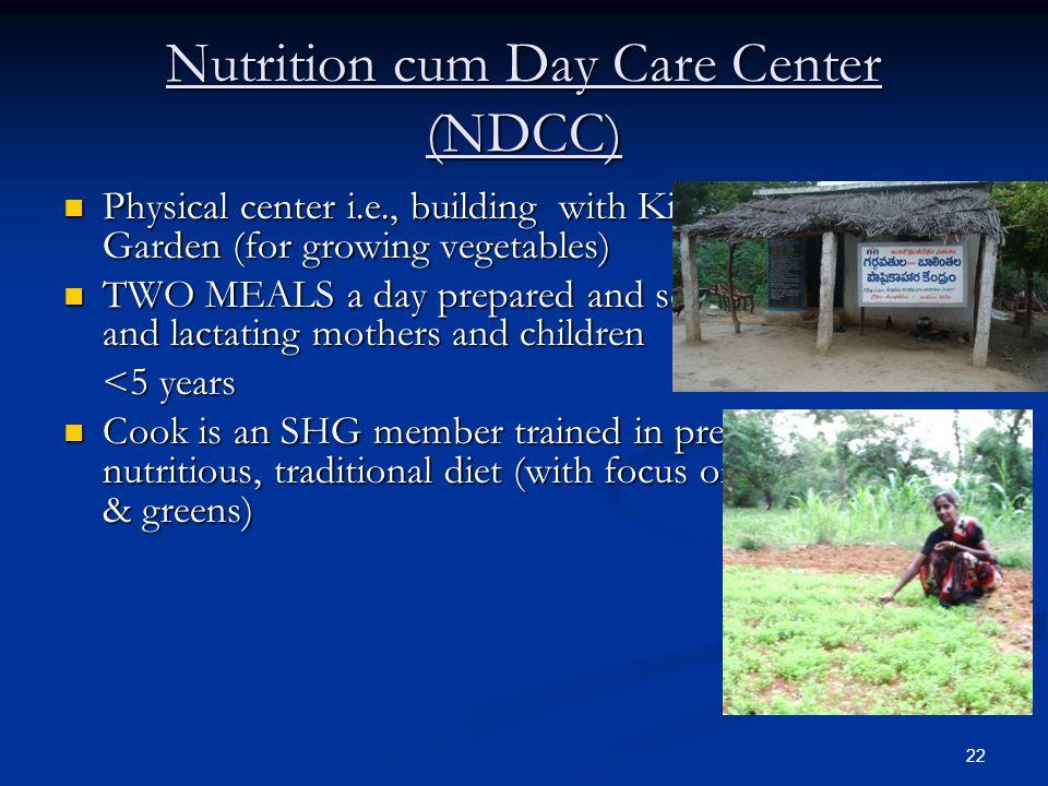 Nutrition cum Day Care Center (NDCC)
