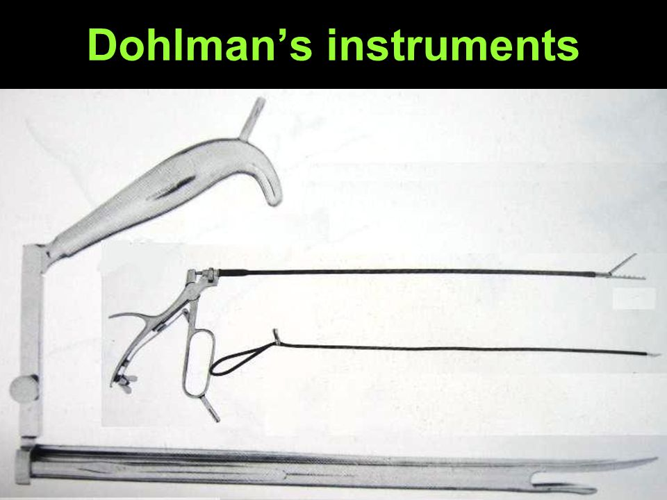 Dohlman's instruments