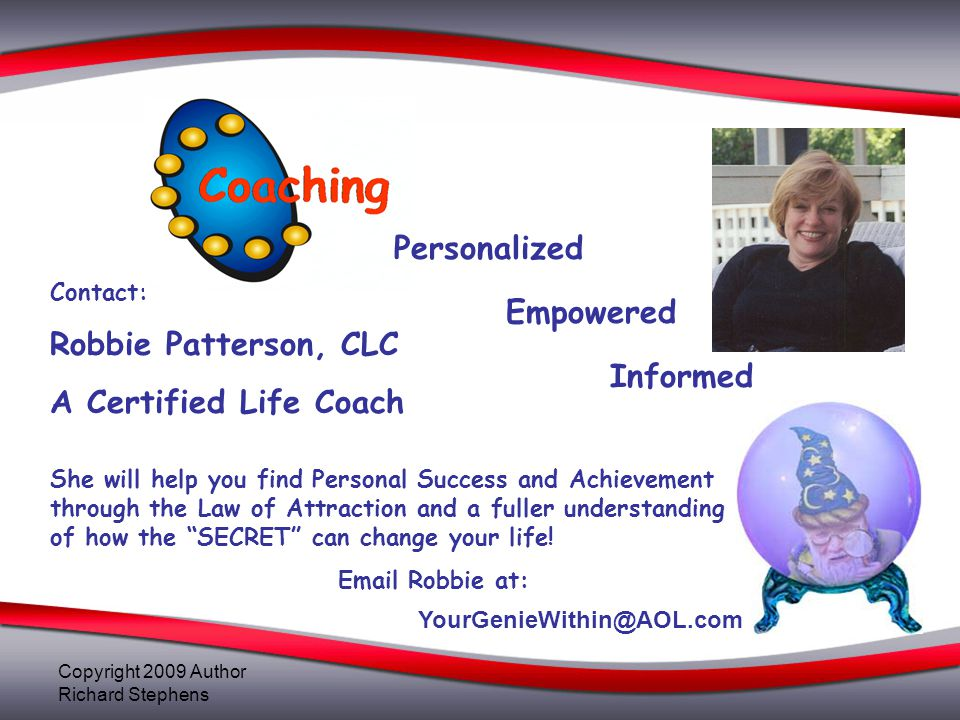 Personalized Robbie Patterson, CLC Empowered A Certified Life Coach