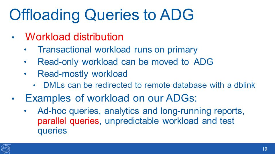 Offloading Queries to ADG