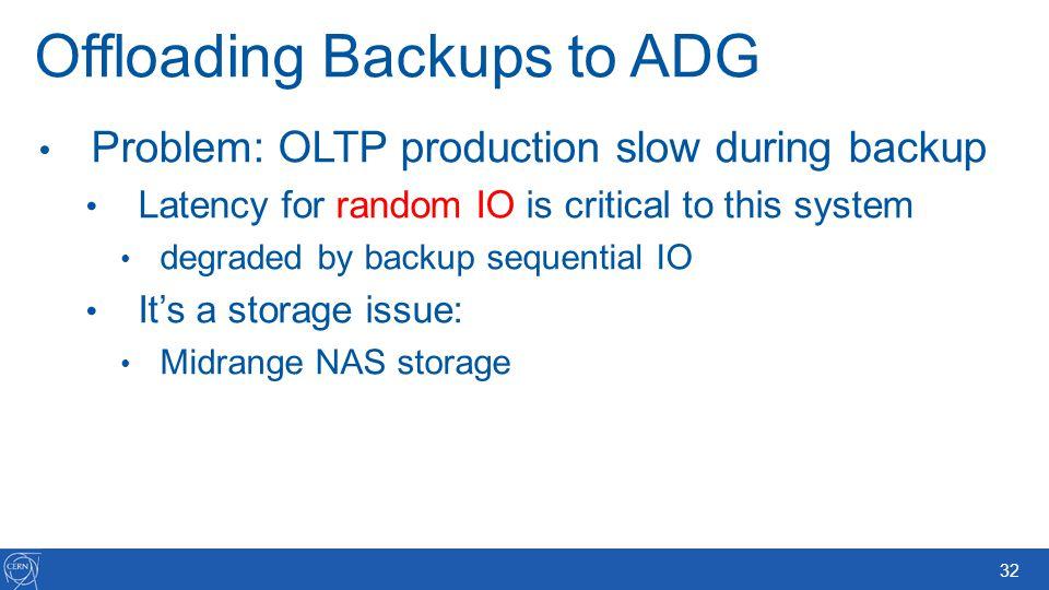 Offloading Backups to ADG