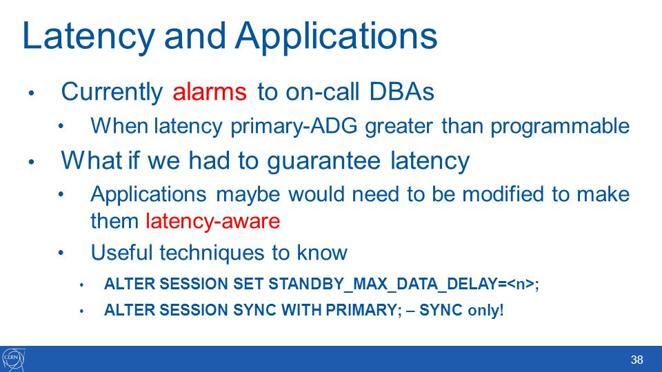 Latency and Applications