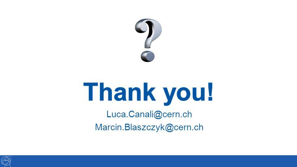 Thank you! Luca.Canali@cern.ch Marcin.Blaszczyk@cern.ch