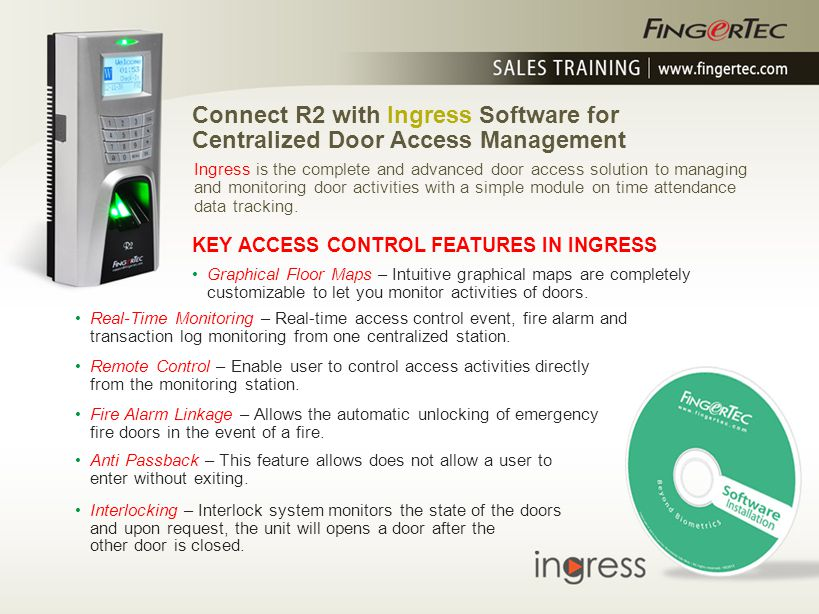 Connect R2 with Ingress Software for
