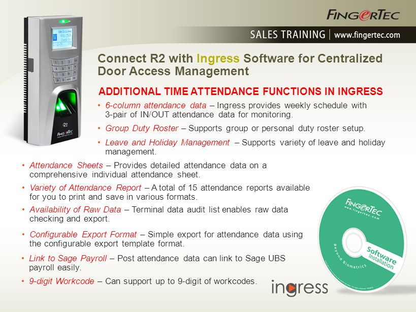 Connect R2 with Ingress Software for Centralized Door Access Management