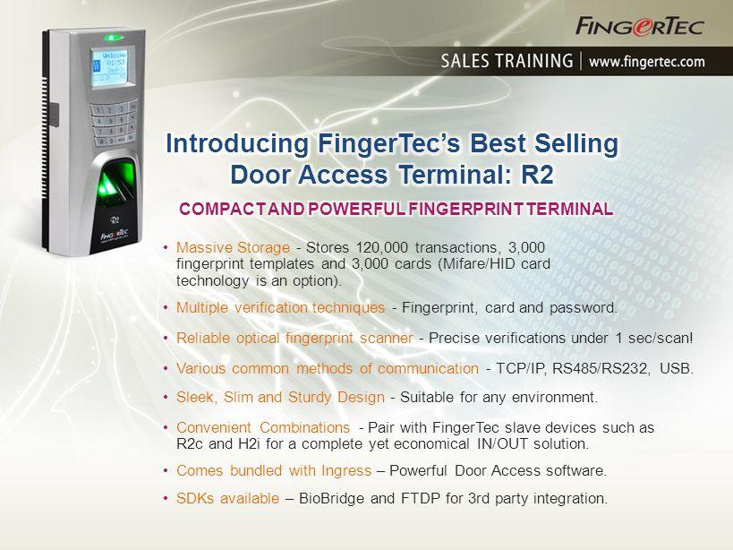 Introducing FingerTec's Best Selling Door Access Terminal: R2