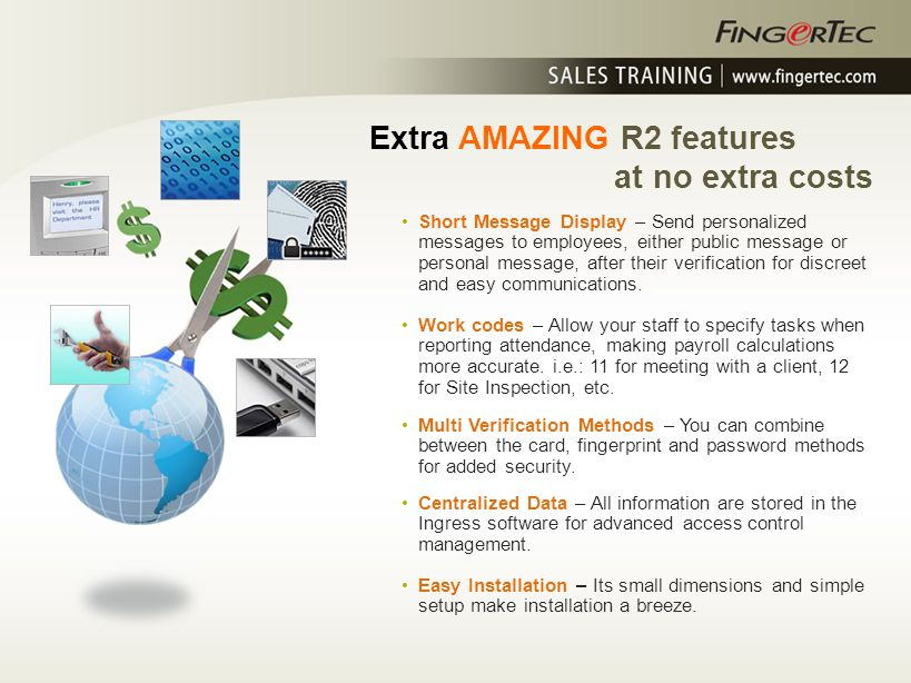 Extra AMAZING R2 features at no extra costs