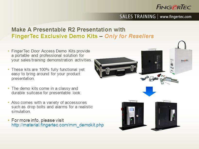 Make A Presentable R2 Presentation with FingerTec Exclusive Demo Kits – Only for Resellers