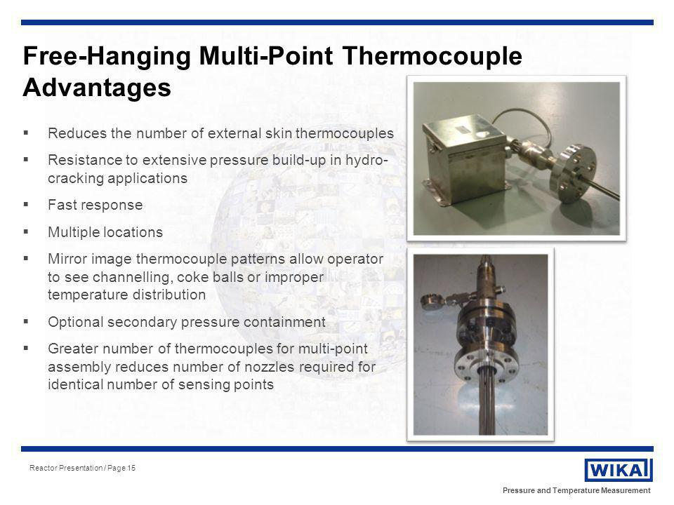 Free-Hanging Multi-Point Thermocouple Advantages