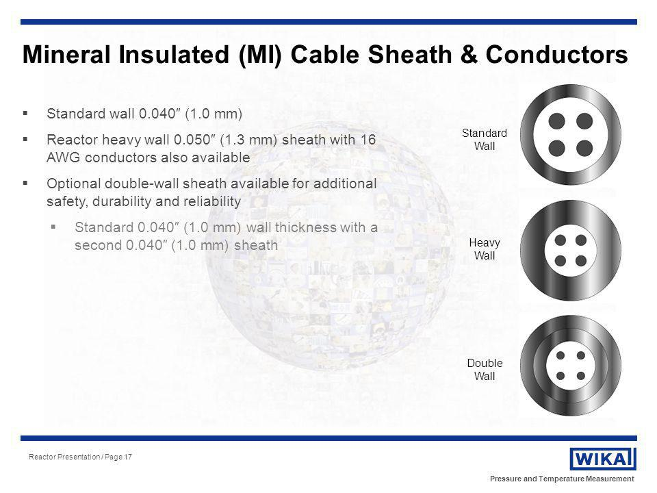 Mineral Insulated (MI) Cable Sheath & Conductors