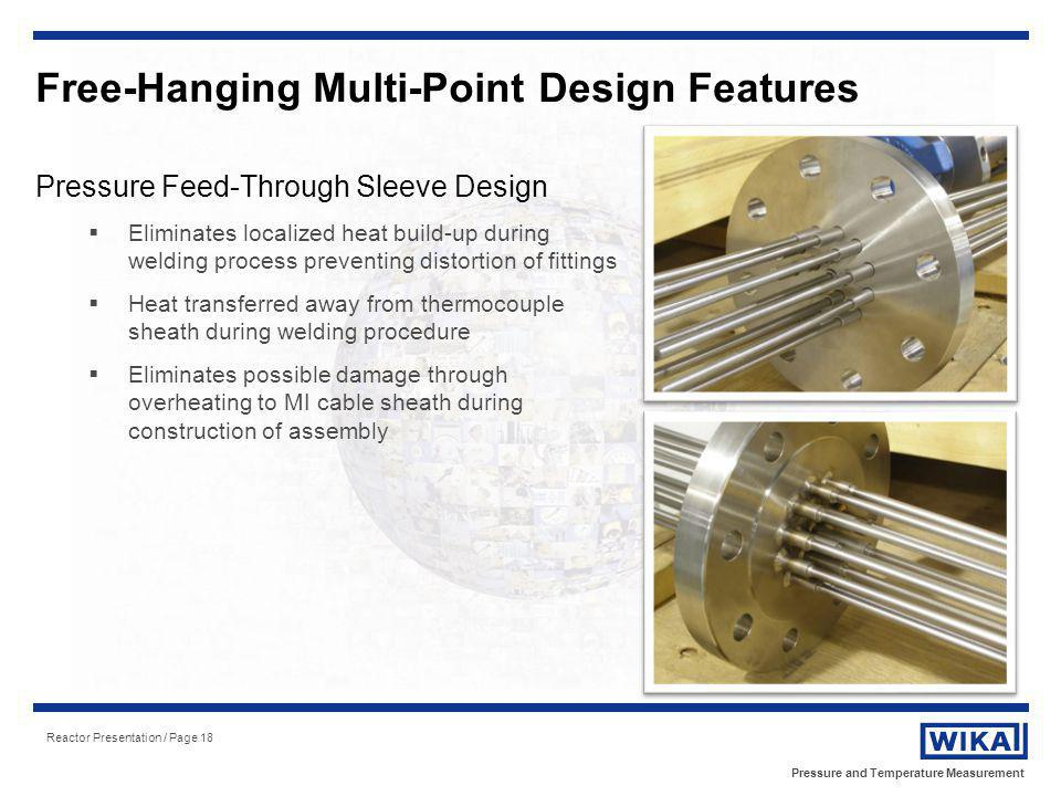 Free-Hanging Multi-Point Design Features
