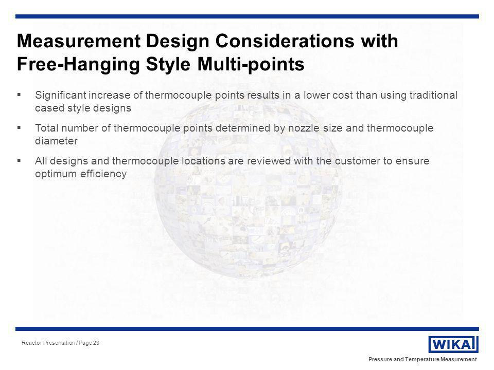 Measurement Design Considerations with Free-Hanging Style Multi-points