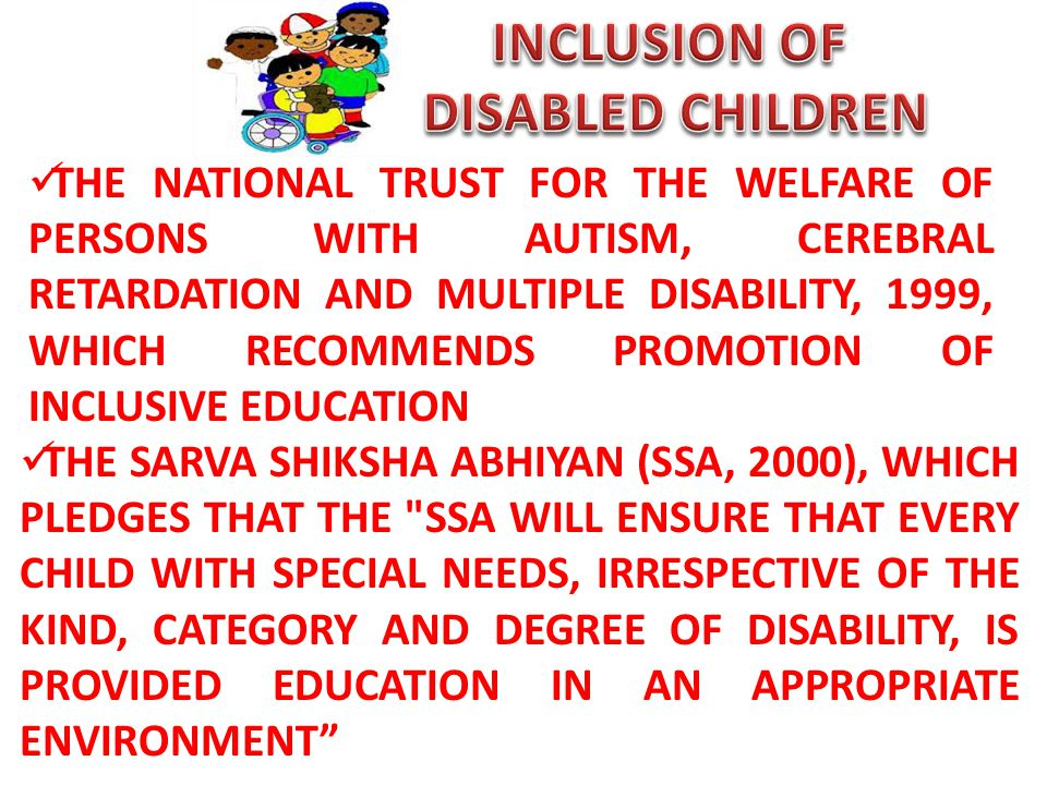 INCLUSION OF DISABLED CHILDREN