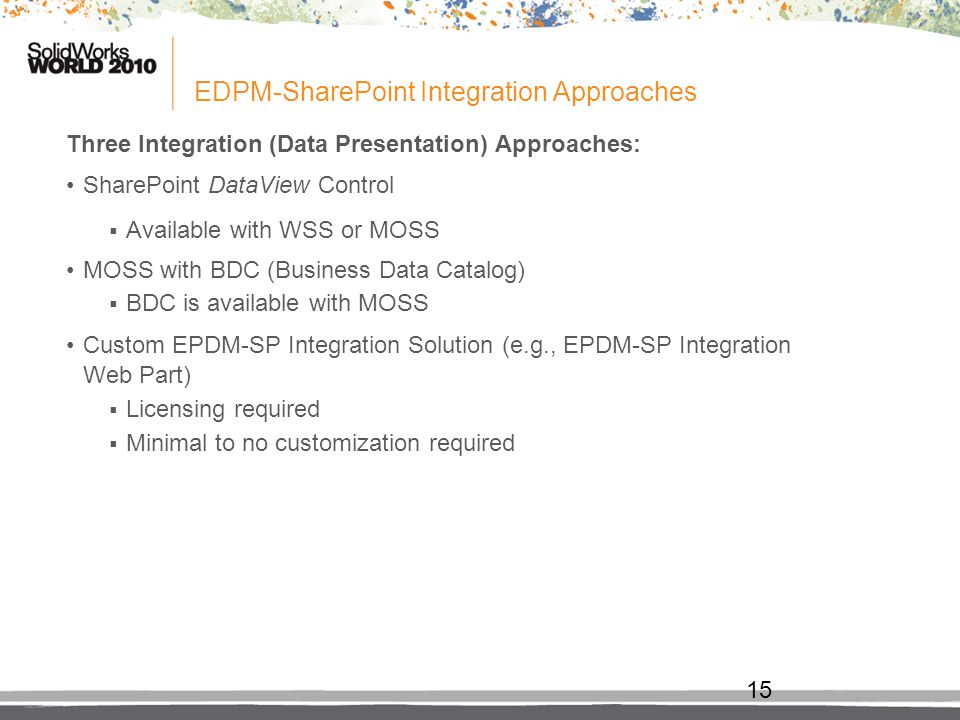 EDPM-SharePoint Integration Approaches