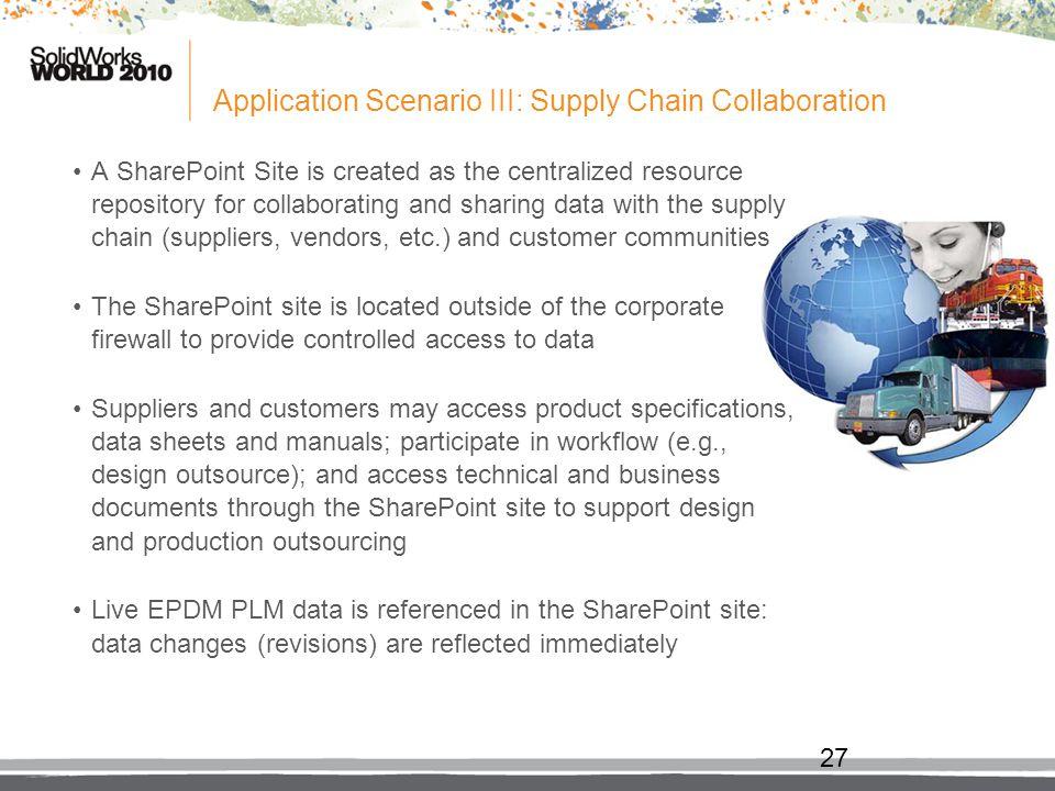 Application Scenario III: Supply Chain Collaboration