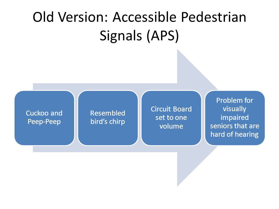 Old Version: Accessible Pedestrian Signals (APS)