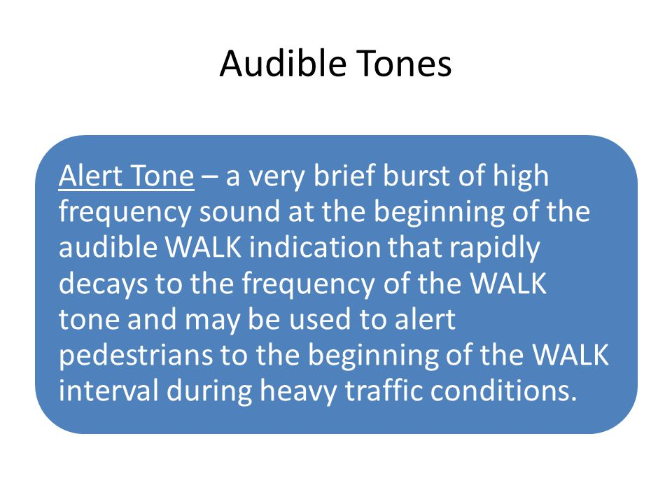 Audible Tones