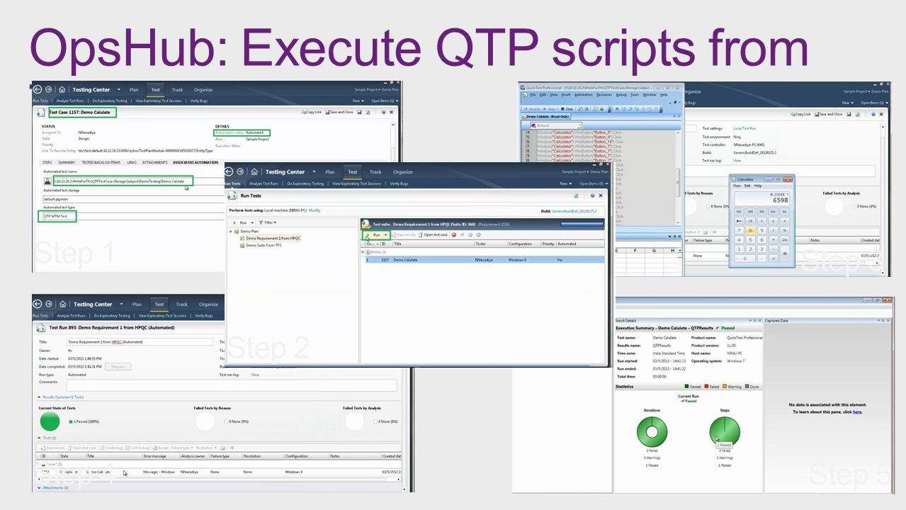 OpsHub: Execute QTP scripts from TFS