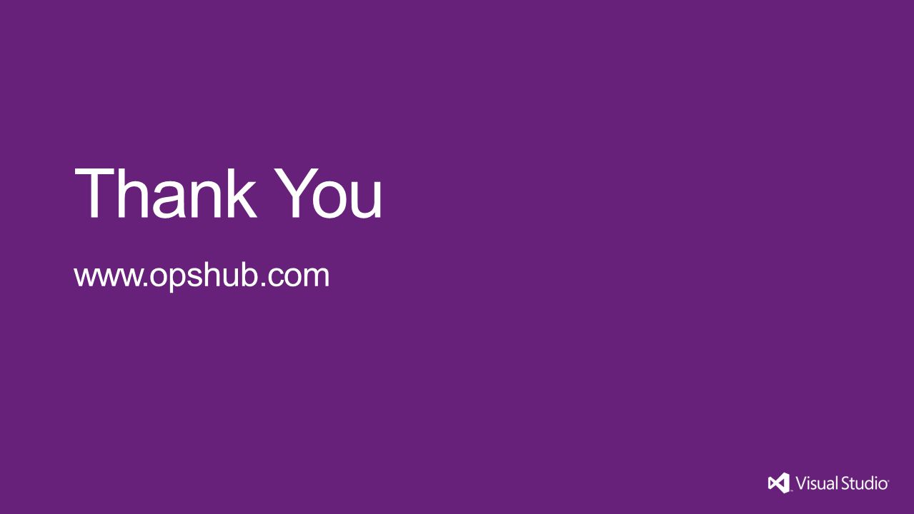 Thank You www.opshub.com