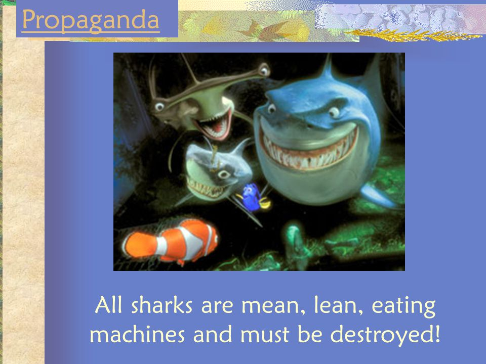All sharks are mean, lean, eating machines and must be destroyed!