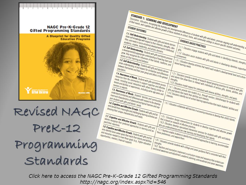 Revised NAGC PreK-12 Programming Standards