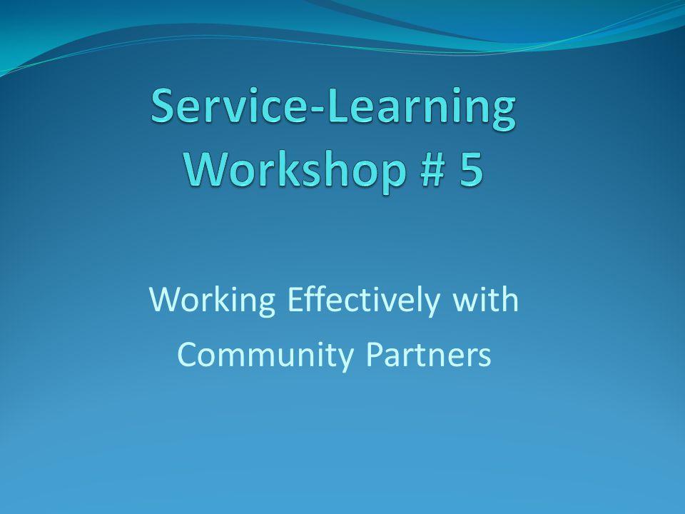 Service-Learning Workshop # 5