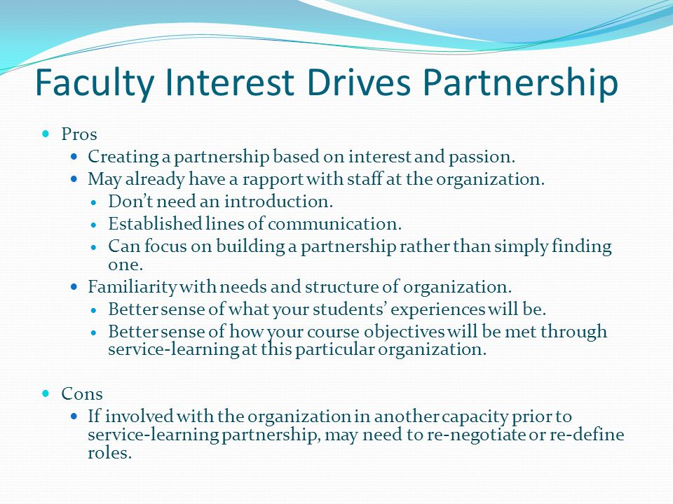 Faculty Interest Drives Partnership