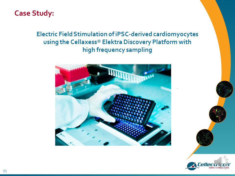 Case Study: Electric Field Stimulation of iPSC-derived cardiomyocytes using the Cellaxess® Elektra Discovery Platform with high frequency sampling.