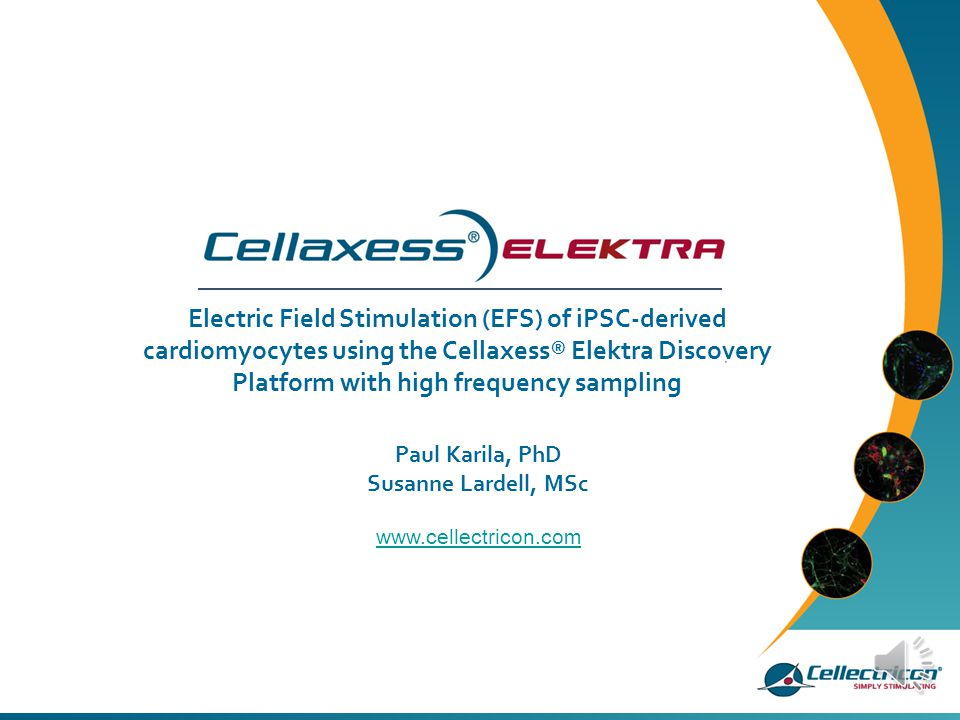 Electric Field Stimulation (EFS) of iPSC-derived cardiomyocytes using the Cellaxess® Elektra Discovery Platform with high frequency sampling