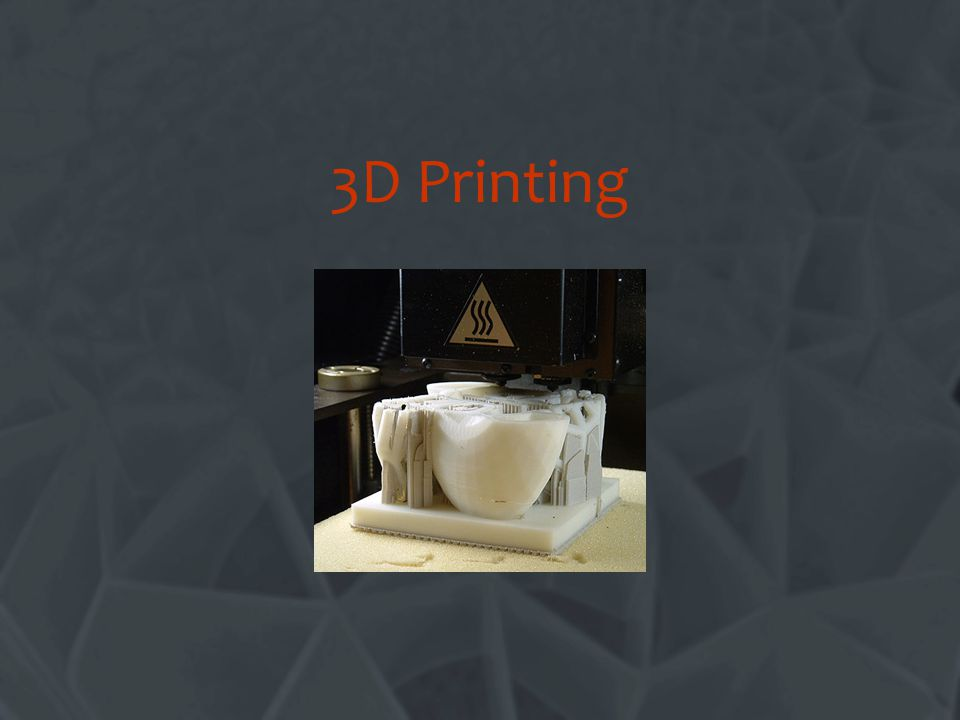 3D Printing Change this title