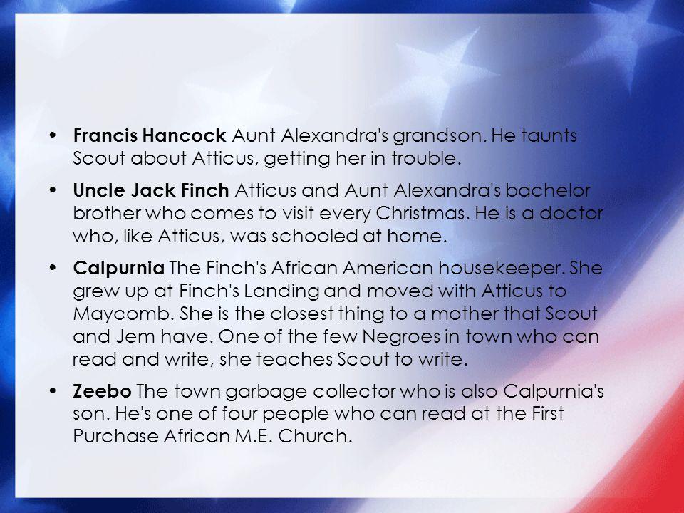 Francis Hancock Aunt Alexandra s grandson