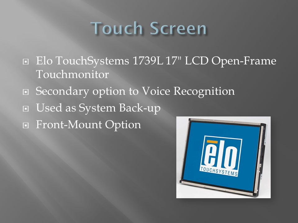 Touch Screen Elo TouchSystems 1739L 17 LCD Open-Frame Touchmonitor